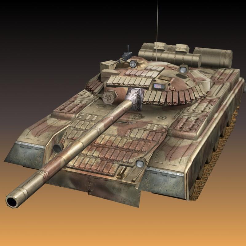 t80 iraqi 3d model