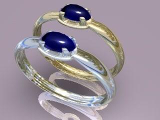 3d gold rings model