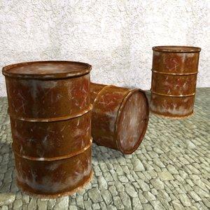 rusty barrel 3d model