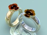 3d model gold rings