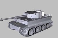 german tigers sd kfz 3d model