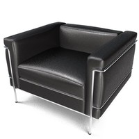 3ds armchair club chair le corbusier