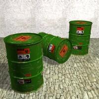 3d model barrel games architectural