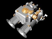 3d model weber dcoe carburetor