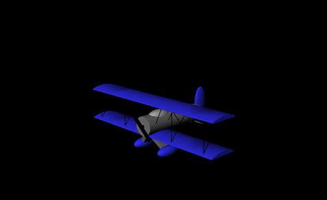 3d biplane model