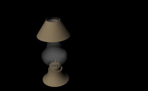 3dsmax simple lamp
