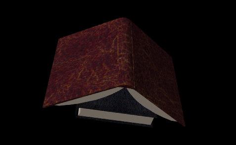 3d model books open old