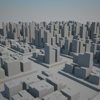 huge metropolitan cityscape buildings skyscrapers 3d model