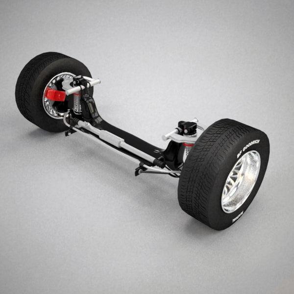 car suspension 2 3d model