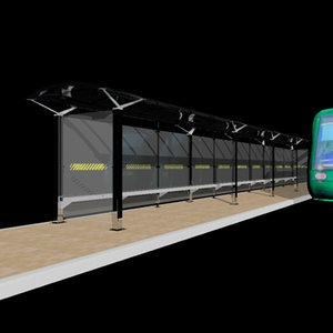 tram shelter 3d model