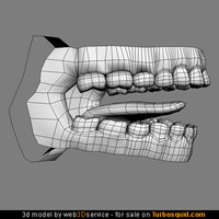 Mouth interior 3d model