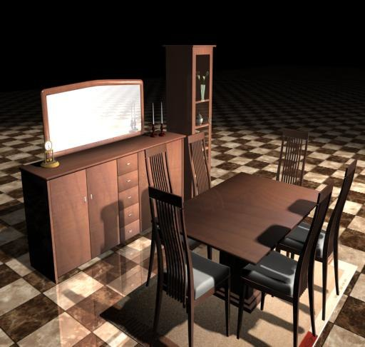 3d model diningroom