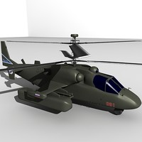 3d ka-52 helicopter model