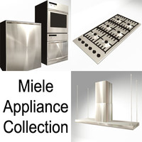 3d 3ds miele appliance kitchen