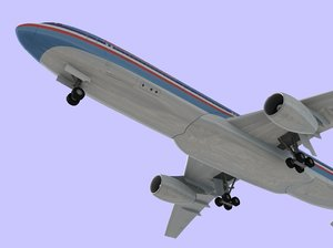 3d model airbus 330 american airlines