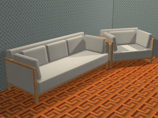 3d couch armchair