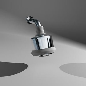 showerhead hansgrohe clubmaster 28496001 3d model