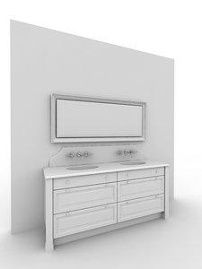 complete bathroom furniture 3d max
