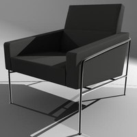 Fritz Hansen Single Seat Lounge Chair Model 3300