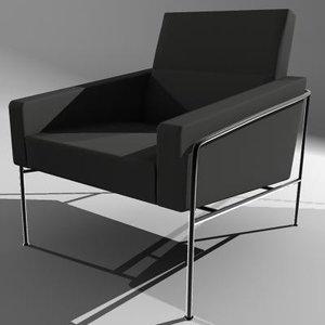 chair fritz hansen single 3d model