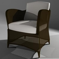 3d chair patio furniture woven model