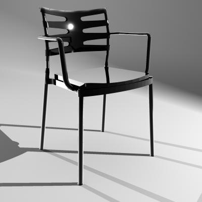 chair fritz hansen ice 3d model