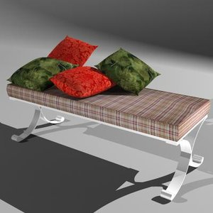 bench cushioned foot bed 3d model