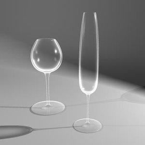 3d glasses pair wine