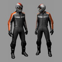 Biker (Motorcycle rider) with easily-variable colors