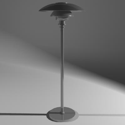 3d model lamp louis poulsen ph