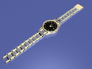 gold watch dxf