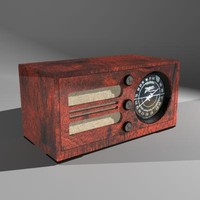 3d radio vintage zenith wood model
