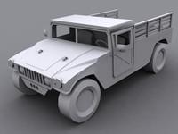 3d hummer troop transport