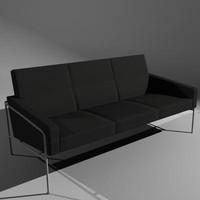 Sofa Fritz Hansen 3 Seat Lounge Model 3300