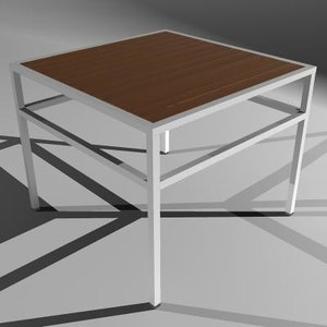 table ital patio furniture 3d model