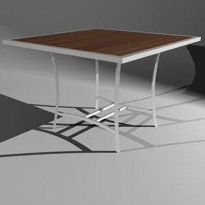 3d table ital 4-seat patio model