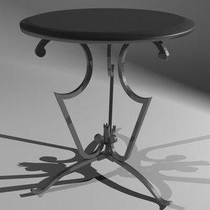 3d model table lucien decorative