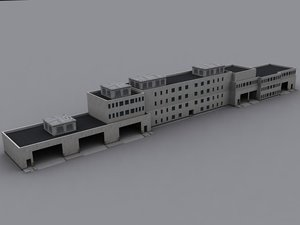 building army base 3d model
