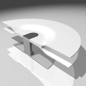 kline merge coffee table 3d max