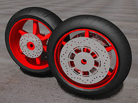 3d sport rosso edition wheel model