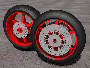3d sport rosso edition wheel model
