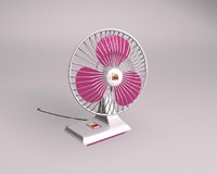 3d model deskfan fan