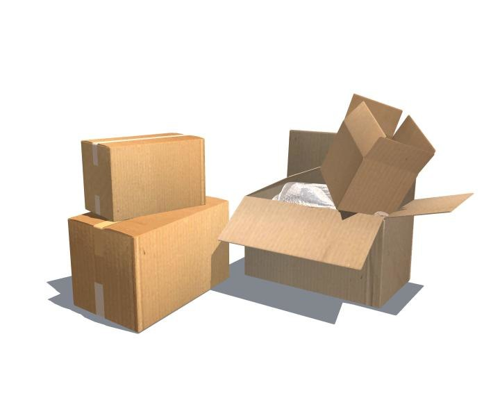 packing boxes 3d ma