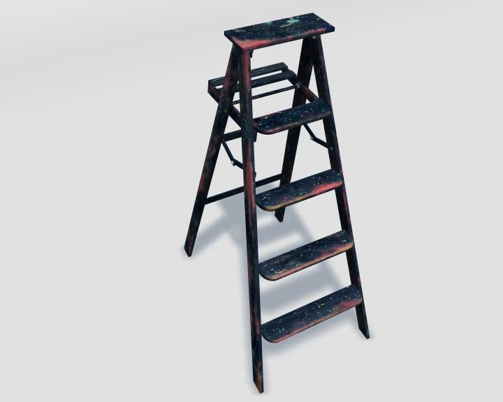 3d model ladder home improvement