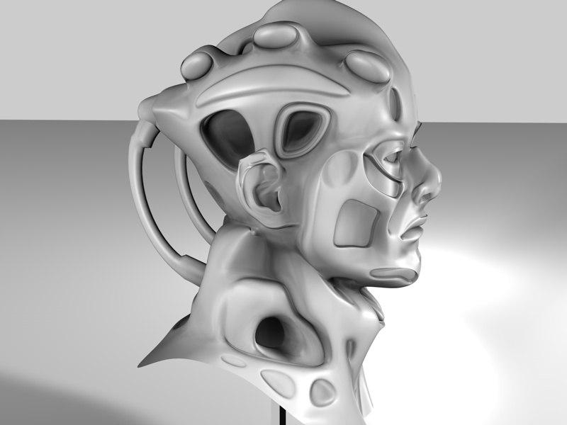 head human mutant 3d model