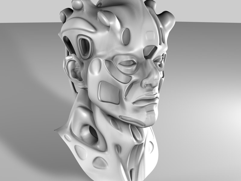 3d head human mutant