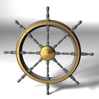 lwo antique steering-wheel
