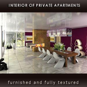 interior private 3d model