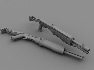 3d model 12 shotgun