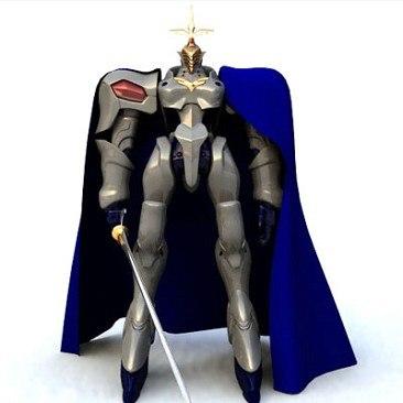 3ds medieval knight dark rider